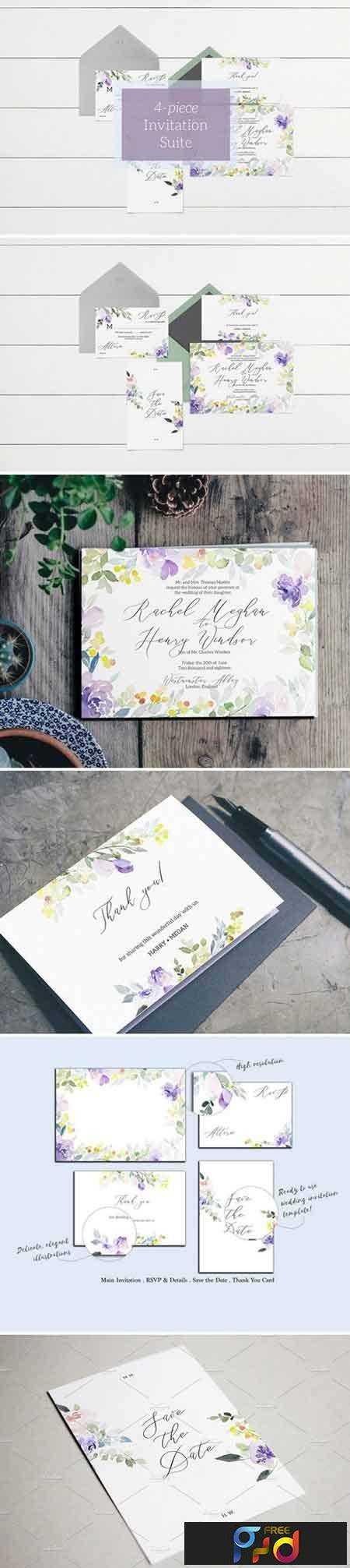 1801050 Purple & Pastel Wedding Invitation 2102924 1
