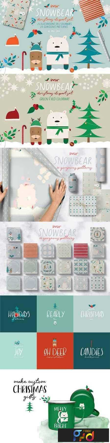 1801064 Mr Snowbear Clipart Set 2160731 1