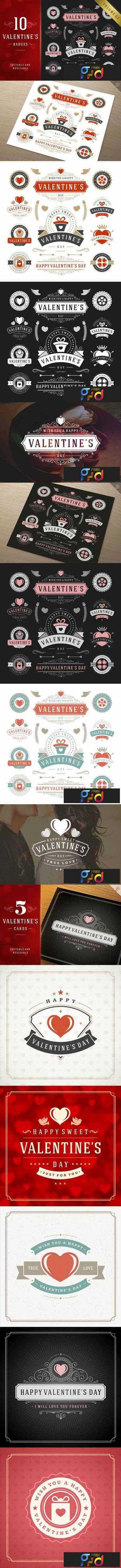 1801069 Valentine's Day Logo Badges & Labels 464629 1