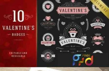 1801069 Valentine's Day Logo Badges & Labels 464629 7