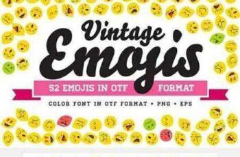 1801084 Vintage Emojis OTF Color Font 1966375 4