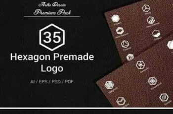 1801087 Hexagon Premade Logo Emblem Vol.2 2101834 8