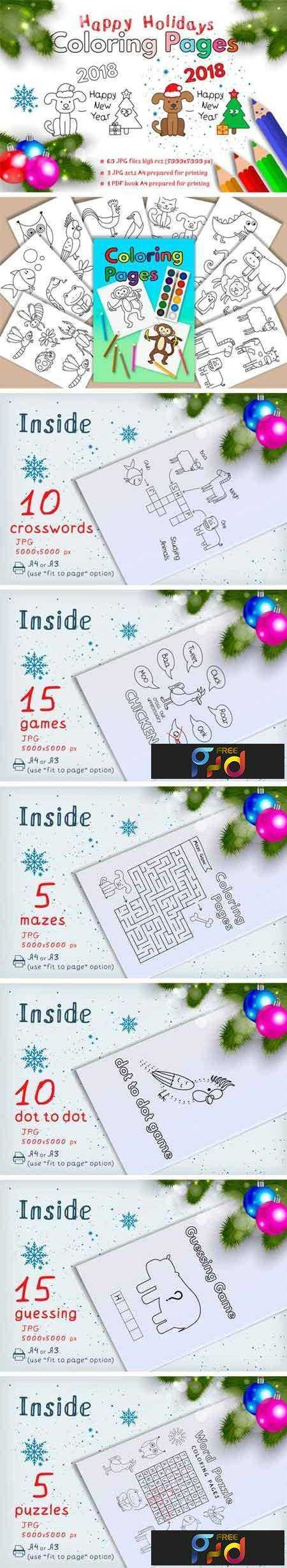 1801102 Happy Holidays Coloring Pages 2131939 1