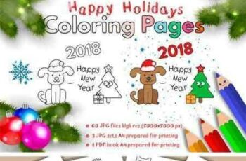1801102 Happy Holidays Coloring Pages 2131939 3