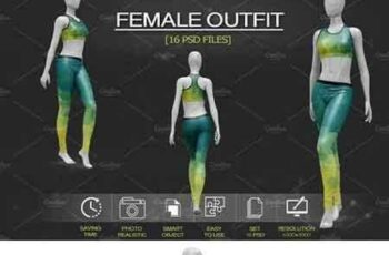1801107 Female Sport Outfit Vol.1 Mockup 2108151