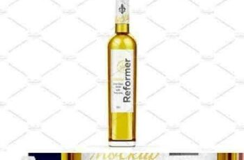 1801110 Glass Bottle with White wine Mockup 2120644 3
