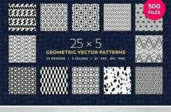 1801158 25 x 5 Geometric Vector Patterns 1636542 6