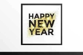 1801187 Gold glitter New Year greeting card 1097478 2