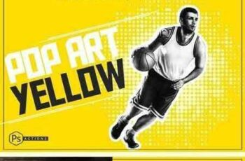 1801198 Pop Art Yellow Action 2018742 2