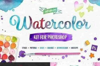 1801199 Watercolor Kit For Photoshop 1454425 5