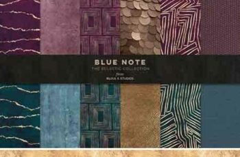 1801222 Blue Note Golden Abstract Graphics 2137688 4