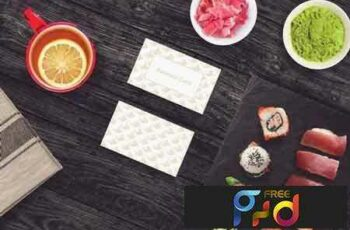 1801263 Sushi Bar Business Card Mock-up #3 2102846 3
