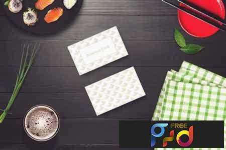 1801264 Sushi Bar Business Card Mock-up #5 2102844 1