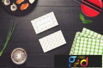 1801264 Sushi Bar Business Card Mock-up #5 2102844 4