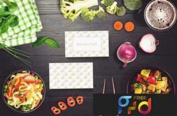 1801265 Sushi Bar Business Card Mock-up #6 2102843 3