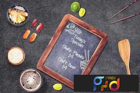 1801266 Sushi Bar Chalkboard Menu Mock-up #1 2103008 1
