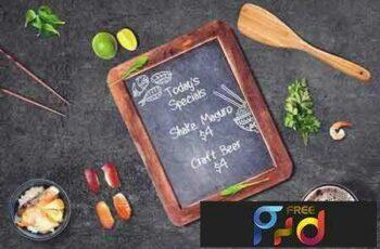 1801267 Sushi Bar Chalkboard Menu Mock-up #2 2103010 4