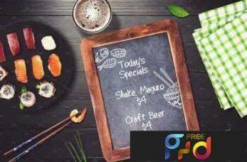 1801269 Sushi Bar Chalkboard Menu Mock-up #4 2103012 8