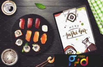 1801274 Sushi Bar Menu Mock-up #5 2103509 3