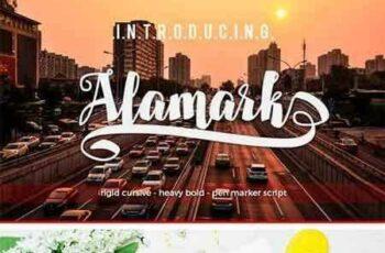 1801277 Alamark Script Font 3