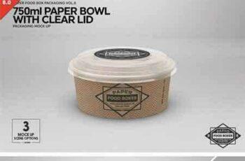 1801291 750ml Paper Bowl Clear Lid MockUp 2181787 7