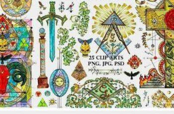 1801298 Freemasonry Symbols in Color 2200867 2