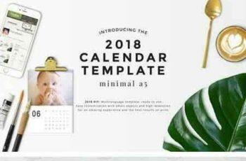 1802004 Minimal A5 - 2018 Calendar Template 1993985 3