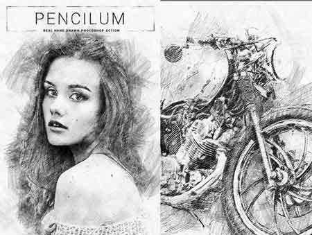 b07d2801d2a 1802005 Pencilum - Real Hand Drawn Photoshop Action 21286331 - FreePSDvn