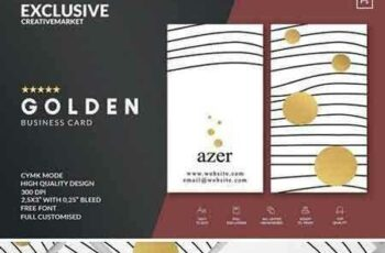 1802012 GOLDEN Business Card Template & Logo 2167585 2