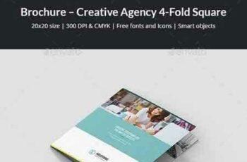 1802049 Brochure – Creative Agency 4-Fold Square 21317034 4