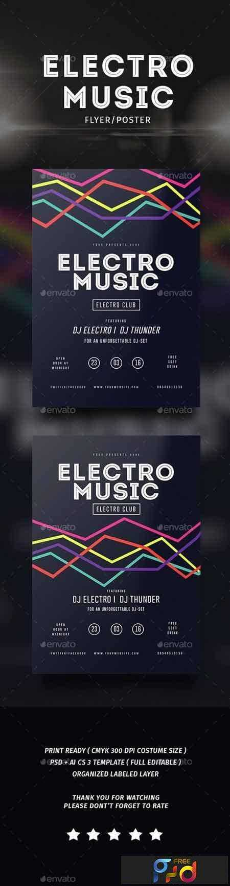 1802056 Electro Musik Flyer & Poster 14526283 1