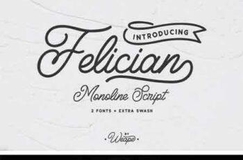 1802057 Felician Monoline Script 2221812