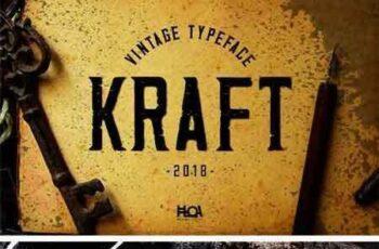 1802060 Kraft - Vintage Typeface 2199553 6