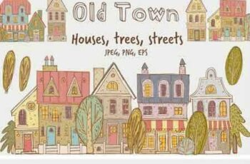 1802065 Old Town Buildings and Streets 2200300