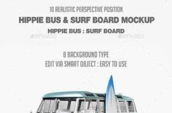 1802075 Hippie Bus & Surf Board Mock-Up 21295793 6