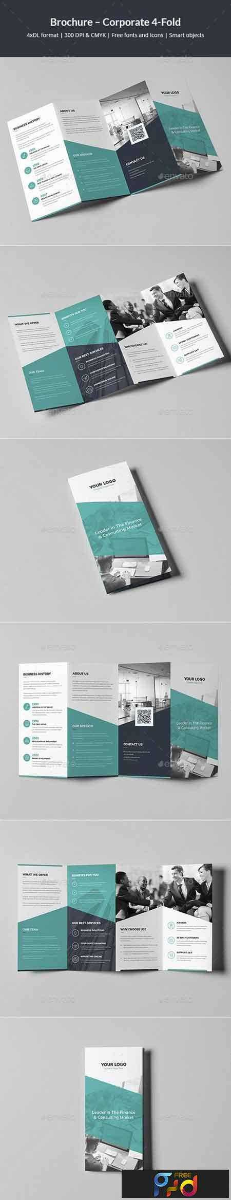 1802085 Brochure – Corporate 4-Fold 21312420 - Free PSD download ...