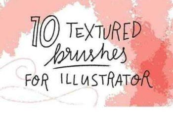 1802096 10 textured brushes for Illustrator 1914786 7