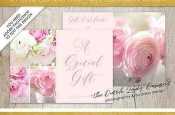 1802104 PSD Photo Gift Card Template #2 1929759
