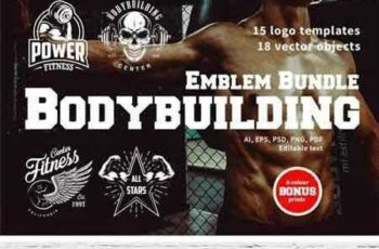 1802123 Bodybuilding Logo Templates 2221453 4