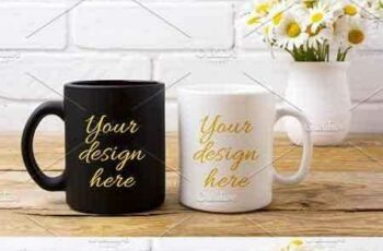 1802185 White and black coffee mug mockup 2219381 5