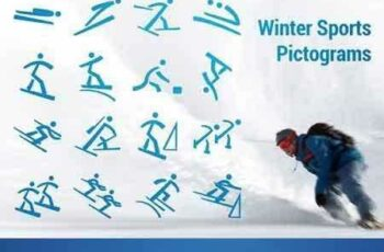 1802186 Winter Olympic Pictograms Font 2245647