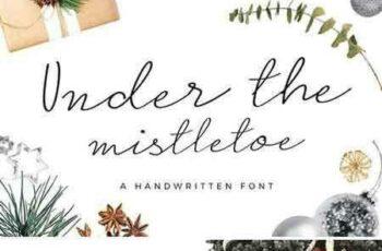 1802198 Under the Mistletoe- Script Font 2176746 7