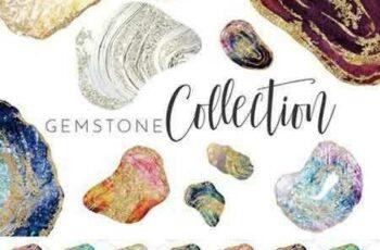 1802202 Watercolor & Foil Gemstone Geodes 2176745 6