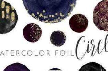 1802203 Watercolor Circle Foil Elements 2176758