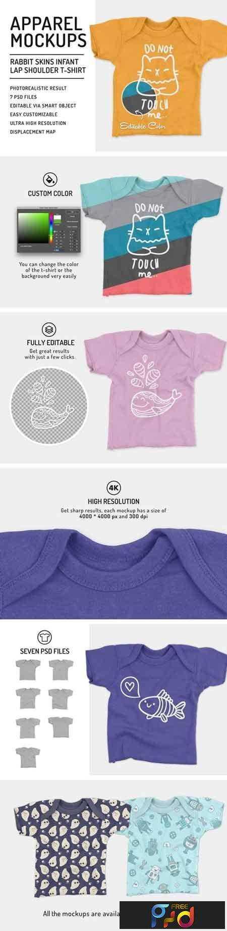 1802218 Infant Lap Shoulder T-Shirt Mockups 2086047 1