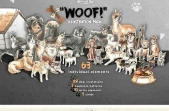 1802227 'Woof!' illustration pack 2108491 6