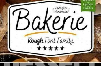 1802231 Bakerie Rough Font Family 1915924 5