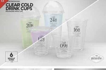 1802238 Clear Cold Drink Cups MockUp 2051940 4