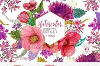 1802282 Tropical Watercolor Flowers 2186058 3