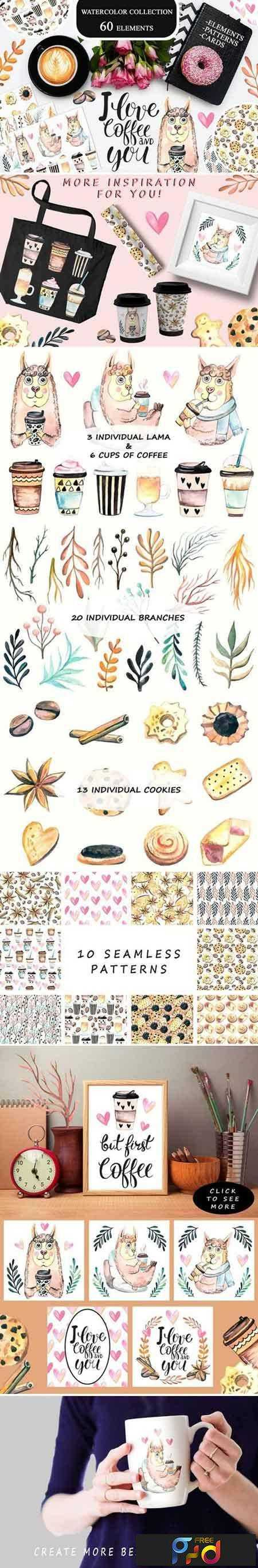 1802284 Watercolor Coffee Collection 2152114 1